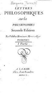Lettres philosophiques, sur les physionomies