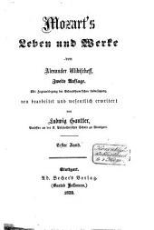 Mozart's Leben und Werke: Band 1