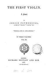 The first violin: Volume 3
