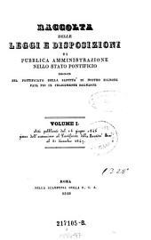 Raccolta delle leggi e disposizioni di pubblica amministrazione nello stato pontificio: Volume 24
