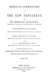 Biblical Commentary on the New Testament: Volume 3