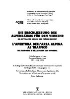Apertura dell area alpina al traffico PDF
