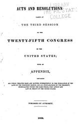 Acts and Resolution of the United States of America  from the 20th Cong   2d Sess  to the     PDF