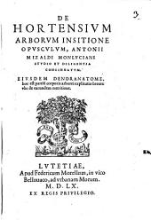 De hortensium arborum insitione opusculum