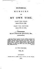 Historical Memoirs of My Own Time ...: From 1781 to 1784