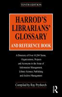 Harrod s Librarians  Glossary and Reference Book PDF