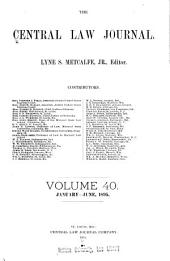 The Central Law Journal: Volume 40