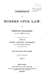 Compendium of modern civil law ...
