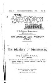 The Mastery of Memorizing: Volume 1, Issues 1-2