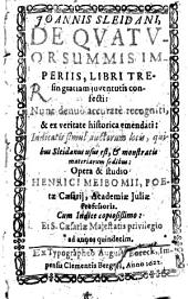 De quatuor summis imperiis: libri tres