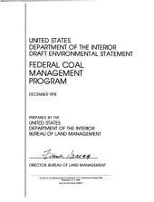 Federal Coal Management Program