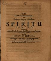 CLIIX. Ad orationes quatuor scholasticas de Spiritu Sancto