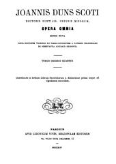 Joannis Duns Scoti Opera omnia: Volume 14