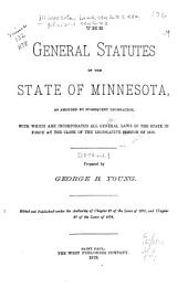 The General Statutes of the State of Minnesota