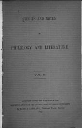 Studies and Notes in Philology and Literature: Volume 2, Issue 1