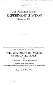 The Movement of Water in Irrigated Soils: Volumes 115-120