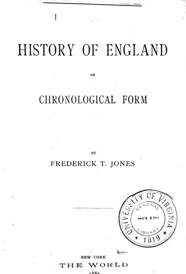 The History of England in Chronological Form PDF