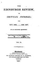 The Edinburgh Review: Or Critical Journal, Volume 9