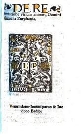 De Reformatione virium animae Domini Gerardi a Zutphania