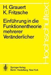 Einführung in die Funktionentheorie mehrerer Veränderlicher