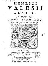 Oratio in Obitum Jacobi Sirmondi Societatis Jesu Presbyteris