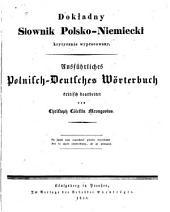 Ausführliches polnisch-deutsches Wörterbuch
