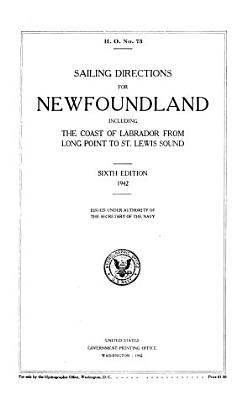 Sailing Directions for Newfoundland