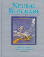 Neural Blockade in Clinical Anesthesia and Management of Pain PDF