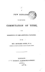 A few remarks on the proposed commutation of tithe