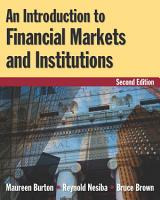 An Introduction to Financial Markets and Institutions PDF