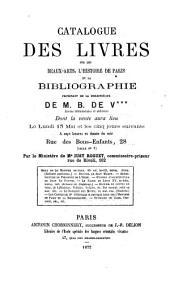 Veilingcatalogus, boeken B. de V***, 13-18 mei 1872