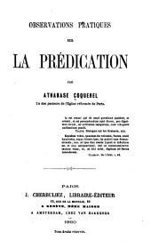 Observations pratiques sur la prédication