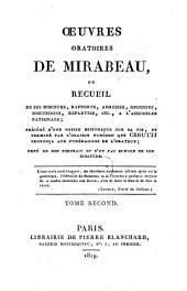 Oeuvres oratoires choisies: Volume 2