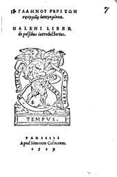 Galeni Liber de pulsibus introductorius