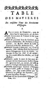Histoire des révolutions d'Espagne: Volume3