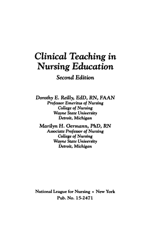 Clinical Teaching in Nursing Education PDF