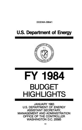 Energy and water development appropriations for 1984 PDF