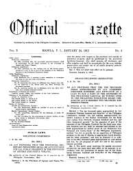 Official Gazette Book PDF