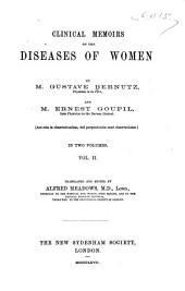Clinical Memoirs on the Diseases of Women: Volume 1