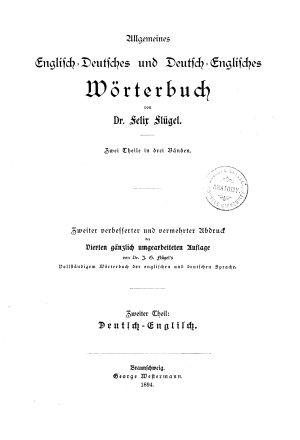 A Universal English German and German English Dictionary