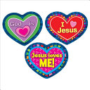 Jesus Loves Me  Shape Stickers