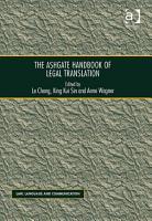 The Ashgate Handbook of Legal Translation PDF