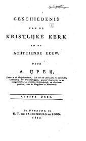 Geschiedenis van de kristlijijke Kerk in de achttiende eeuw: Volume 8