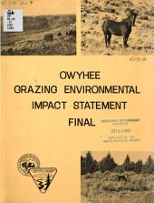 Owyhee grazing environmental impact statement: final