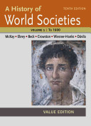 A History of World Societies Value  Volume I  To 1600