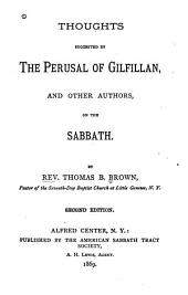 Thoughts Suggested by the Perusal of Gilfillan: And Other Authors, on the Sabbath