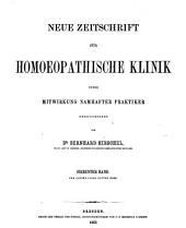 Hirschel's Zeitschrift für homöopathische Klinik: Bände 11-13