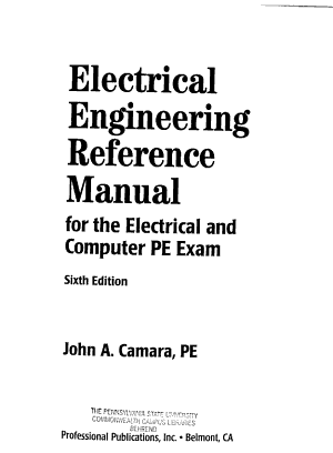 Electrical Engineering Reference Manual for the Electrical and Computer PE Exam PDF