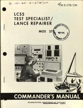 Commander's Manual: LCSS Test Specialist/lance Repairer, MOS 27B.