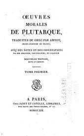 Œuvres morales de Plutarque: Volume13